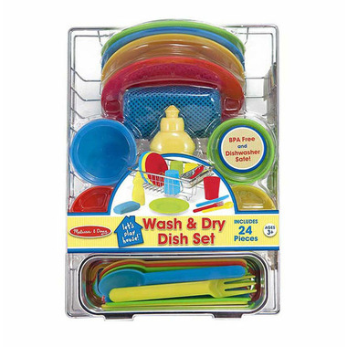 Melissa & Doug Let\'s Play House! Wash & Dry Dish Set