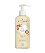Shampoing et gel douche 2 en 1 Baby Leaves Nectar de poire d'ATTITUDE
