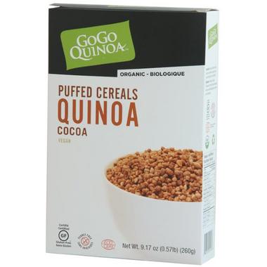 GoGo Quinoa Organic Cocoa Puffed Quinoa Cereal