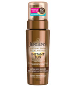Jergens Natural Glow Instant Sun Sunless Tanning Mousse Ultra Deep Bronze