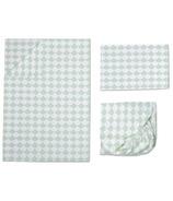 Lolli Living Toddler Sheet Set Kayden Mint Scallop