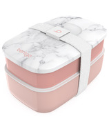 Bentgo Classic 2-Tier Lunch Container Blush Marble