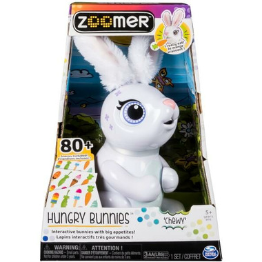 Zoomer Hungry Bunnies Chewy Interactive Bunny