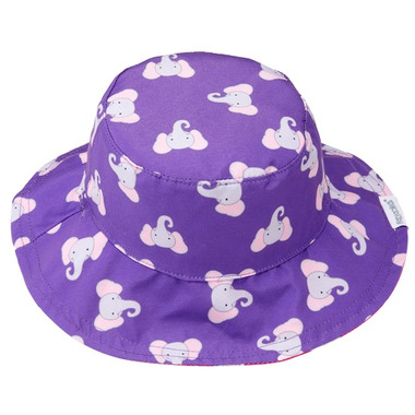Flapjack Kids Reversible Baby Sun Hat Hippo & Elephant
