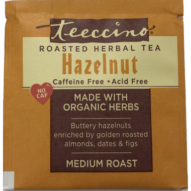 Teeccino Hazelnut Roasted Herbal Tea Sample