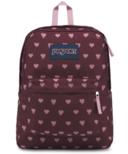 Jansport Super Break Backpack Russet Red Heart Bleeding