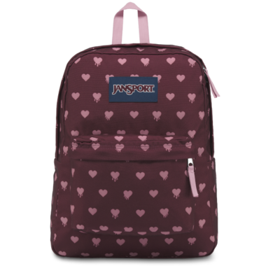 Jansport Super Break Backpack Russet Red Heart Bleeding