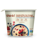 think! Protein & Fiber Hot Oatmeal Farmer's Market Berry Crumble