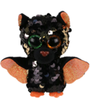 Ty Flippables Omen Halloweenie The Sequin Bat Regular