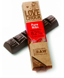 LoveChock Cacao Nibs Raw Organic Dark Chocolate Bar