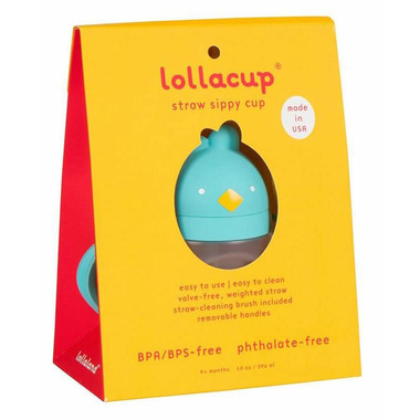Lollaland Lollacup Straw Sippy Cup Cool Turquoise