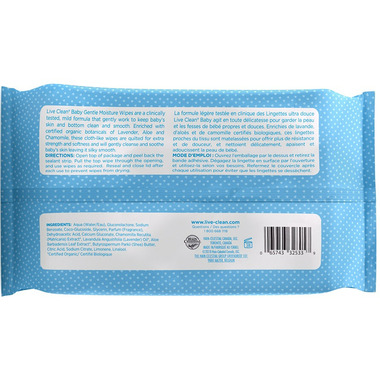 Live Clean Baby Gentle Moisture Baby Wipes