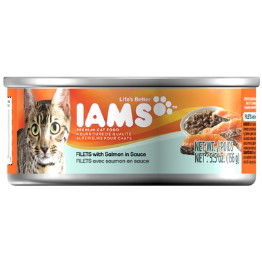 Iams Cat Food Filets with Salmon in Sauce CASE of 12