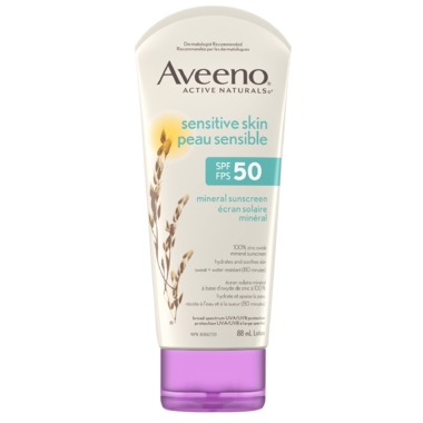 Aveeno Sensitive Skin Mineral Sunscreen SPF 50
