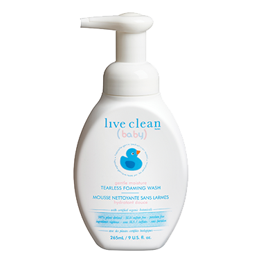 Live Clean Baby Tearless Foaming Wash