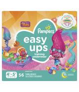 Paquet géant de couches culotte pour la propreté de bébé de Pampers Easy Ups avec les Trolls
