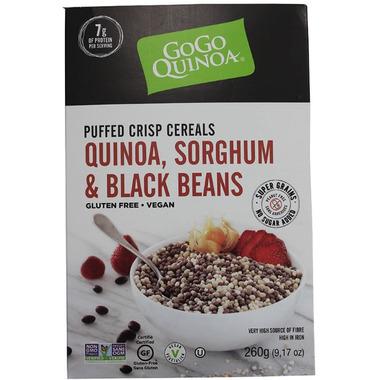 GoGo Quinoa Puffed Cereals Quinoa, Sorghum and Black Beans