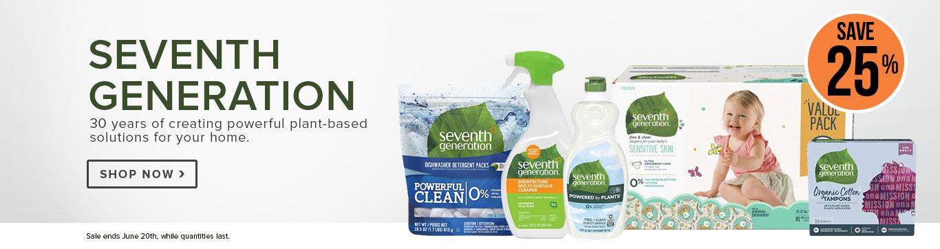 Save 25% on Seventh Generation