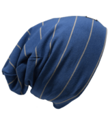L&P Apparel Cotton Slouchy Beanie Urban Blue & Grey