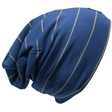 L&P Apparel Cotton Slouchy Beanie Urban Blue & Grey