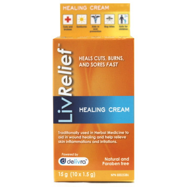 LivRelief Healing Cream Indivdual Packets
