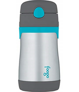 Foogo Stainless Steel Vacuum Insulated Straw Bottle Teal & Smoke