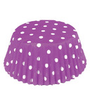 Purple Polka Dot Standard Bake Cups