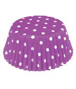 Purple Polka Dot Standard Bake Cups