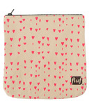 Fluf Zip Pouch Hearts