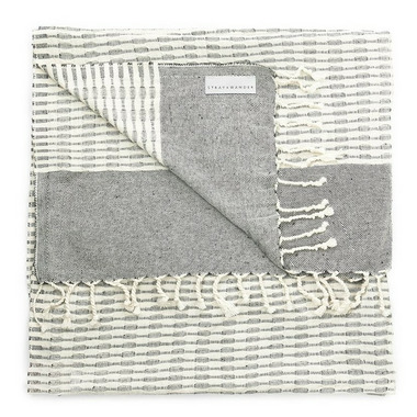 Stray & Wander Coastal Towel Black