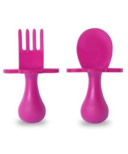 Grabease First Spoon and Fork Set Pink
