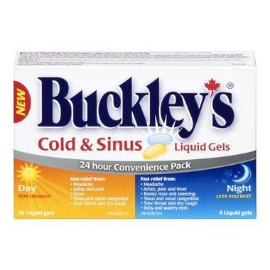 Buckley\'s Cold & Sinus Liquid Gels Day + Night Pack