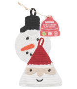 Now Designs Tawashi Scrubbers Sophie Snowman & St. Nick