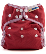 Mother ease Wizard Uno All in One Cloth Diaper Cranberry One Size 7-35 lbs