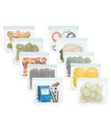 (re)zip Leakproof Lay-Flat 10-Piece Sandwich Size Family Pack