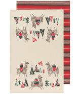 Now Designs Jubilee Dishtowel Happy Llamadays