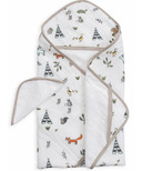Little Unicorn Cotton Hooded Towel & Wash Cloth Set Forest Friends