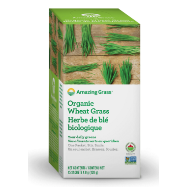 Amazing Grass Organic Wheat Grass Powder Single Serve Packets