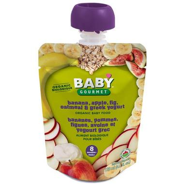 Baby Gourmet Banana Apple Fig Oatmeal and Greek Yogurt Baby Food