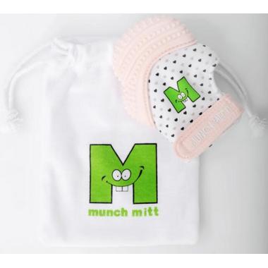 Munch Mitt Teething Mitten Pastel Pink