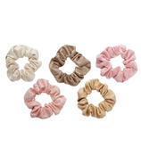 Kitsch Metallic Scrunchies Blush And Mauve