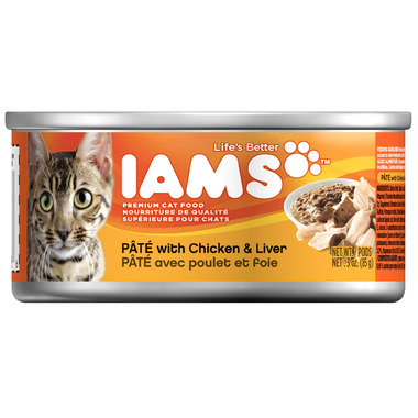 Iams Cat Food Pate With Chicken & Liver