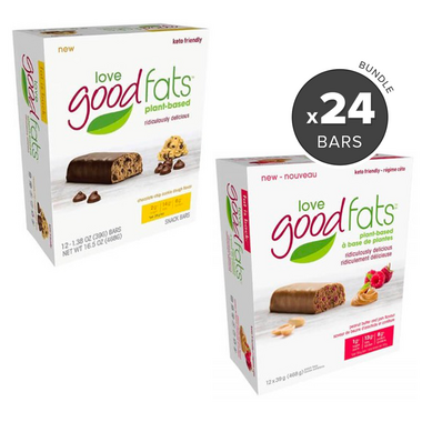 Love Good Fats Chocolate Chip Cookie Dough & PB & J Snack Bar Bundle