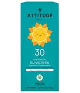 ATTITUDE Écran solaire 100% minéral sans parfum pour nos tout-petits