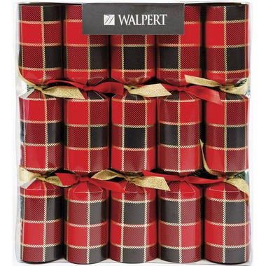 Walpert Festive Crackers in Buffalo Tartan