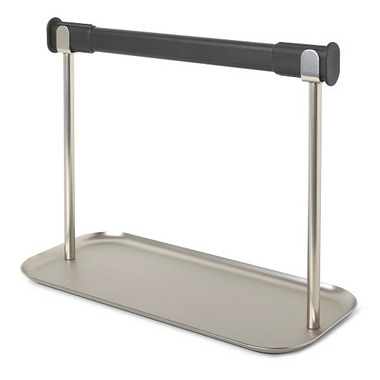 Umbra Limbo Paper Towel Holder With Tray Black & Nickel