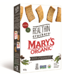 Mary's Organic Crackers Real Thin Olive Oil & Black Pepper Crackers