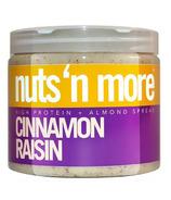 Nuts n More Cinnamon Raisin Almond Butter High Protein Spread