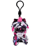 Ty Flippables Zoey the Pink Zebra Sequin Clip