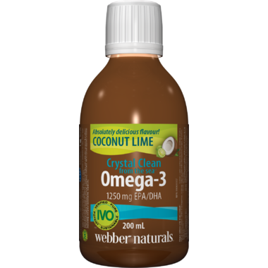 Webber Naturals Crystal Clean From The Sea Omega-3 Coconut Lime